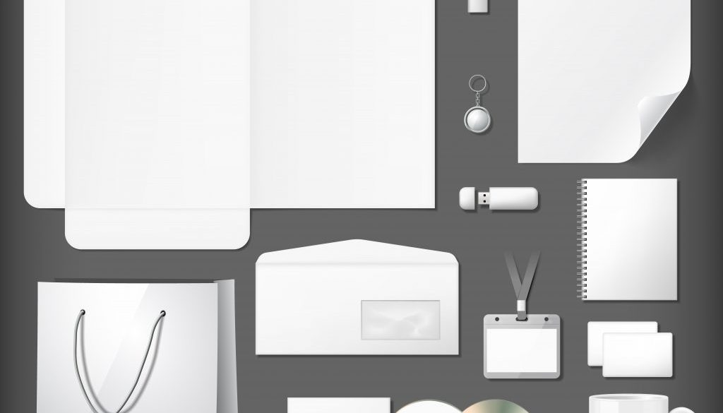 Blank corporate identity mock ups set